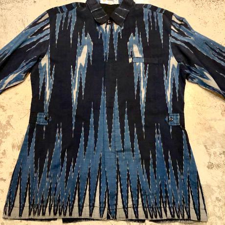 総柄L/Sバティックシャツ