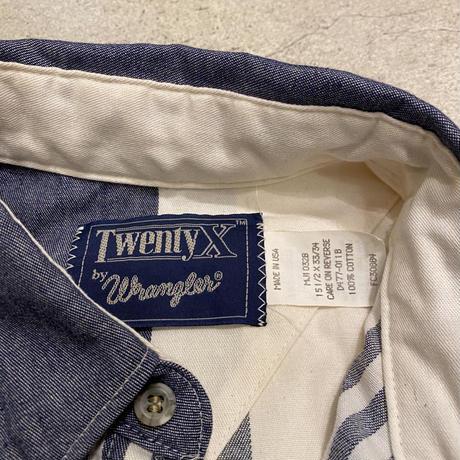 """アメリカ製 """"Wrangler"""" マルチストライプシャツ"""