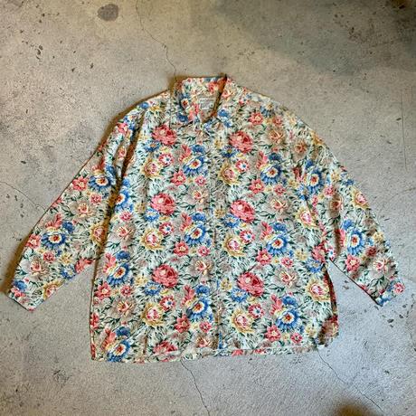 シルク 花柄 シャツ