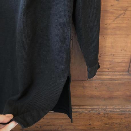 スウェーデン ヘンリーネックシャツ 黒染め①