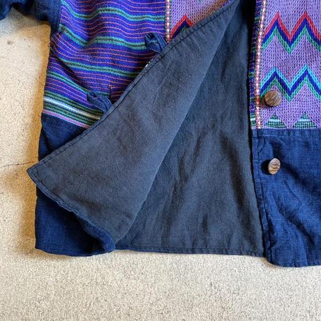 フロントボタンジャケット グアテマラ刺繍