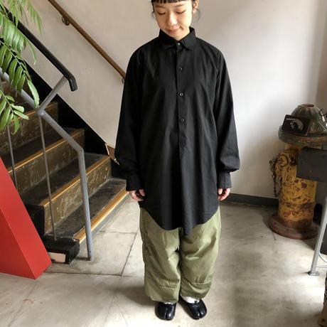 チェコ 60's グランパシャツ 後染めblack(S)