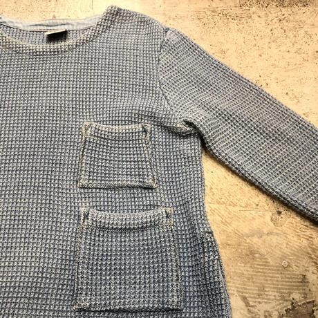ポケット付きコットンニットセーター