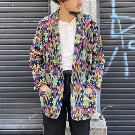 織り柄テーラードジャケット