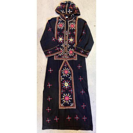 パキスタン 刺繍 フード付き ワンピース 11