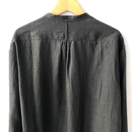 Handwerker  カラーレスシャツ  リネン / black / M