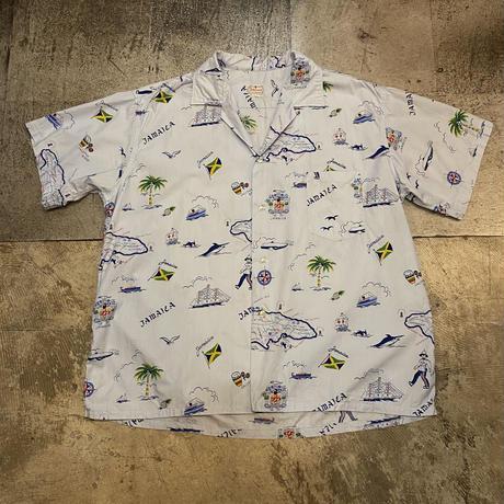60's〜 ジャマイカ柄 開襟シャツ