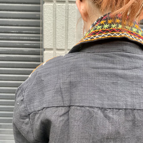 パキスタン 刺繍 羽織り