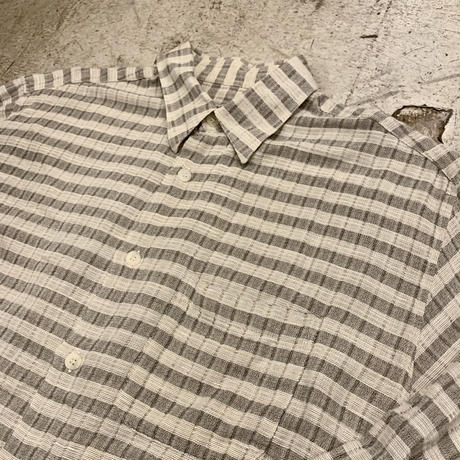 イタリア製 コットン×リネン シャツ