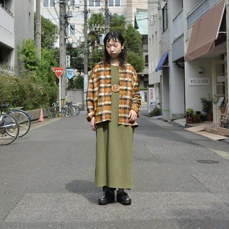 チェック×刺繍 シルクジャケット
