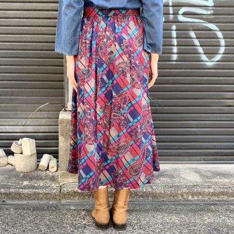 アメリカ製 1970's 総柄スカート