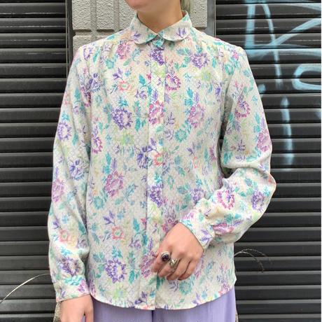花柄 長袖シャツ