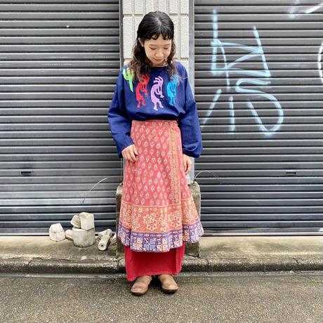 インド綿 ラップスカート