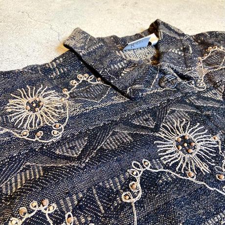 ビーズ×刺繍 ジャケット