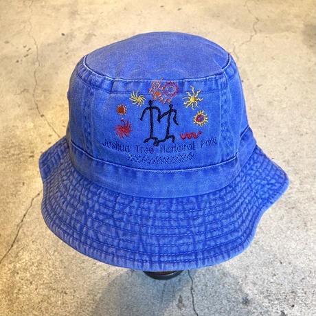 刺繍ハット ブルー