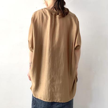 NO CONTROL AIR  リヨセル・カールマイヤー フレンチスリーブシャツ / Marigold×Red / 38
