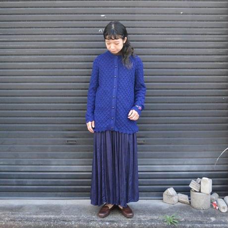 ウネウネ編み ニットガーディガン