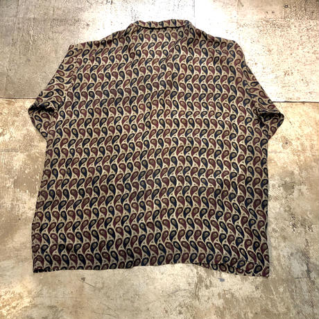 100% Silk  総柄パジャマシャツ