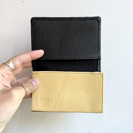 Inswirl  CARD CASE / BLACK × YELLOW