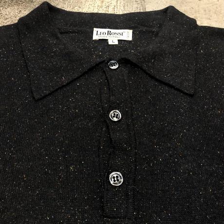 イタリア製 長袖ポロシャツ