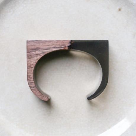 nooca 折木バングルD  ウォルナット/BK