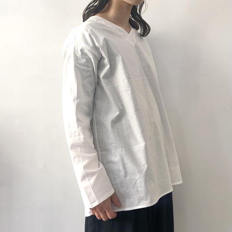 ロシア スリーピングシャツ  Vネック / ホワイト