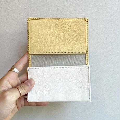 Inswirl  CARD CASE / YELLOW × WHITE