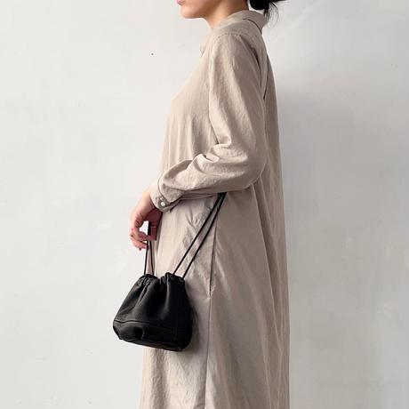 Inswirl KINCHAKU BAG SMALL【BLACK】紐ロングタイプ
