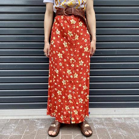 フランス製 フロントボタンスカート