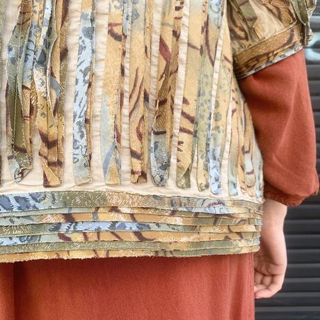プリーツ風 5分袖 ジャケット