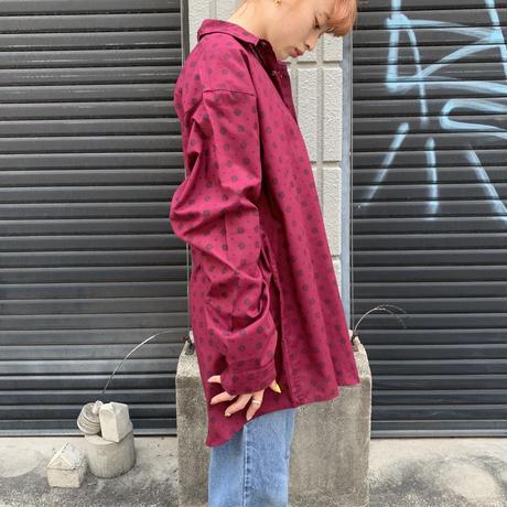 ポリエステル×コットン シャツ