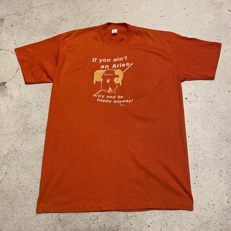 """1970's〜""""おひつじ座"""" Tシャツ(オレンジ)"""