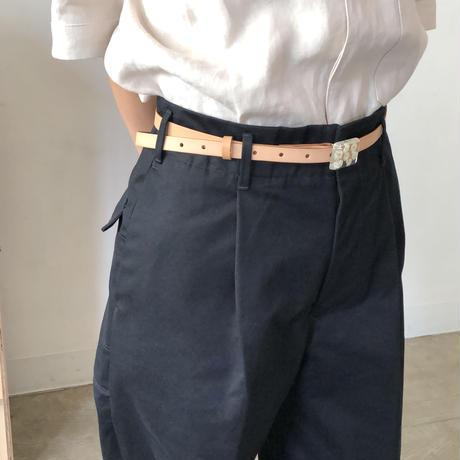 nooca  四角バックルベルト ナチュラル/かすみ草