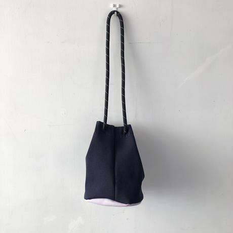 TRICOTÉ   メッシュポケットハンドバッグ  BLACK