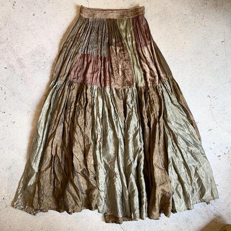 パッチワーク切替 スカート