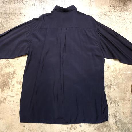 刺繍入りダブルブレストシャツ