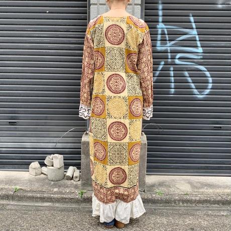 インド製 マキシ丈 ワンピース