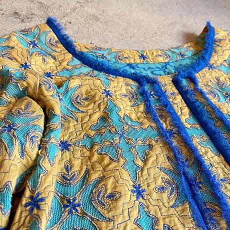 カットワーク刺繍 ワンピース