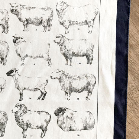 ASEEDONCLÖUD  handkerchief 【Sheep】