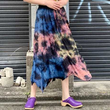 後染め インド刺繍スカート