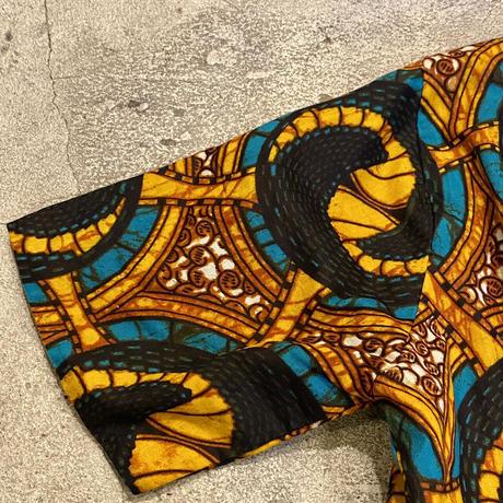 アフリカンバティック カシュクールワンピース