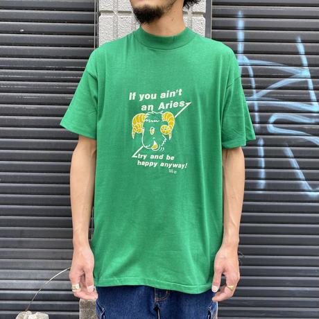 """1970's〜 """"おひつじ座"""" Tシャツ(グリーン)"""