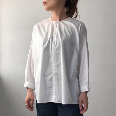 NO CONTROL AIR コーマコットンノーカラーワイドシャツ white/38