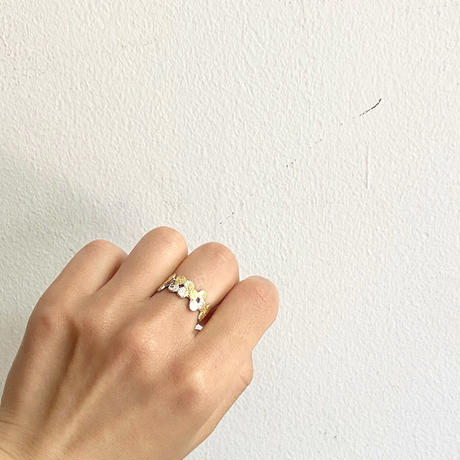 Jona    tenten  monogram ring white/14号