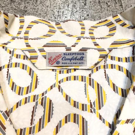〜50's デッドストック総柄パジャマシャツ