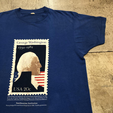 "80's ""George Washington"" 切手Tシャツ"