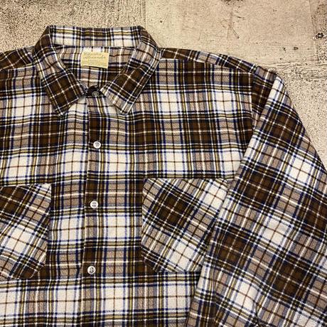 1970's プリントネルシャツ