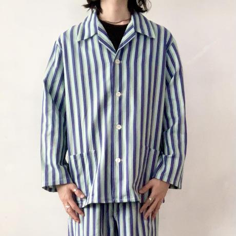 ポーランド スリーピングシャツ / ブルー  dead stock