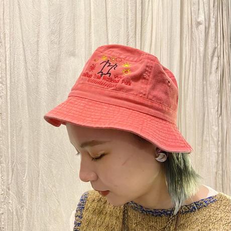 刺繍ハット ピンク