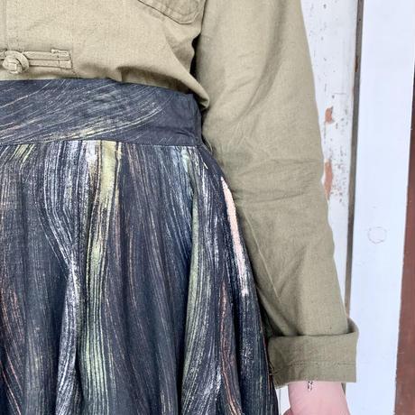 1950's 〜 ハンドペイント フレアスカート